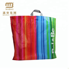 Wholesale Price Biodegradable Flexiloop Handle Custom Shopping Plastic Bag Logo Printed